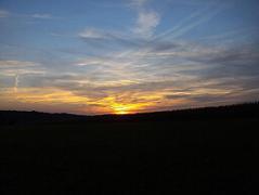 coucher de soleil d`automne